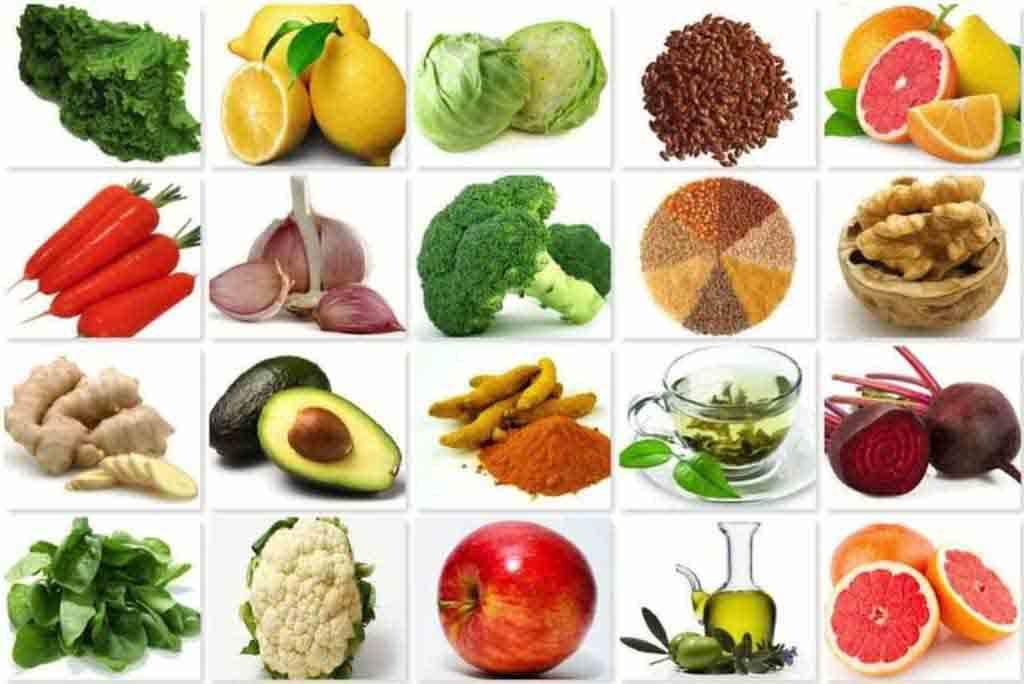 Набор продуктов, содержащих витамин в9